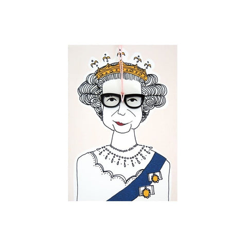 Queen with Glasses (card) - The Buttique