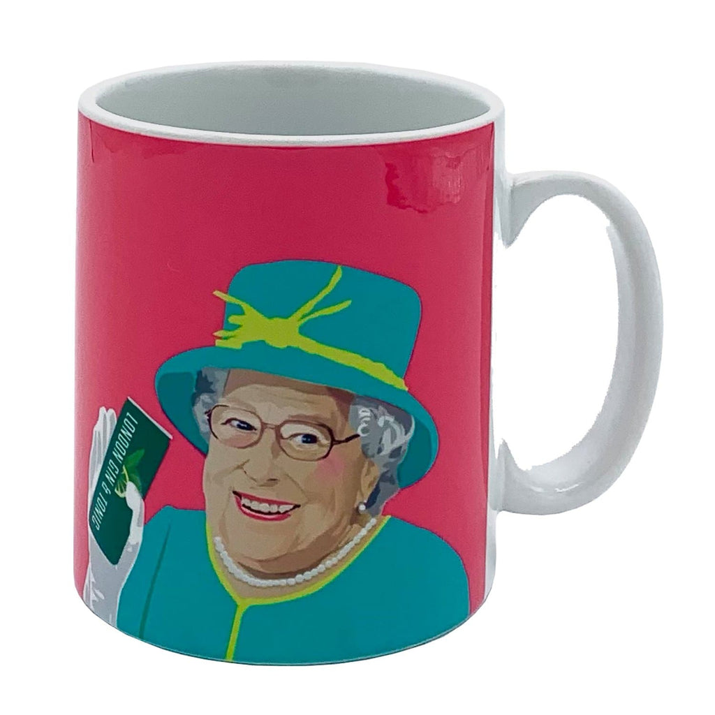 queen elizabeth gin tonic mug pink for We Built This City 1