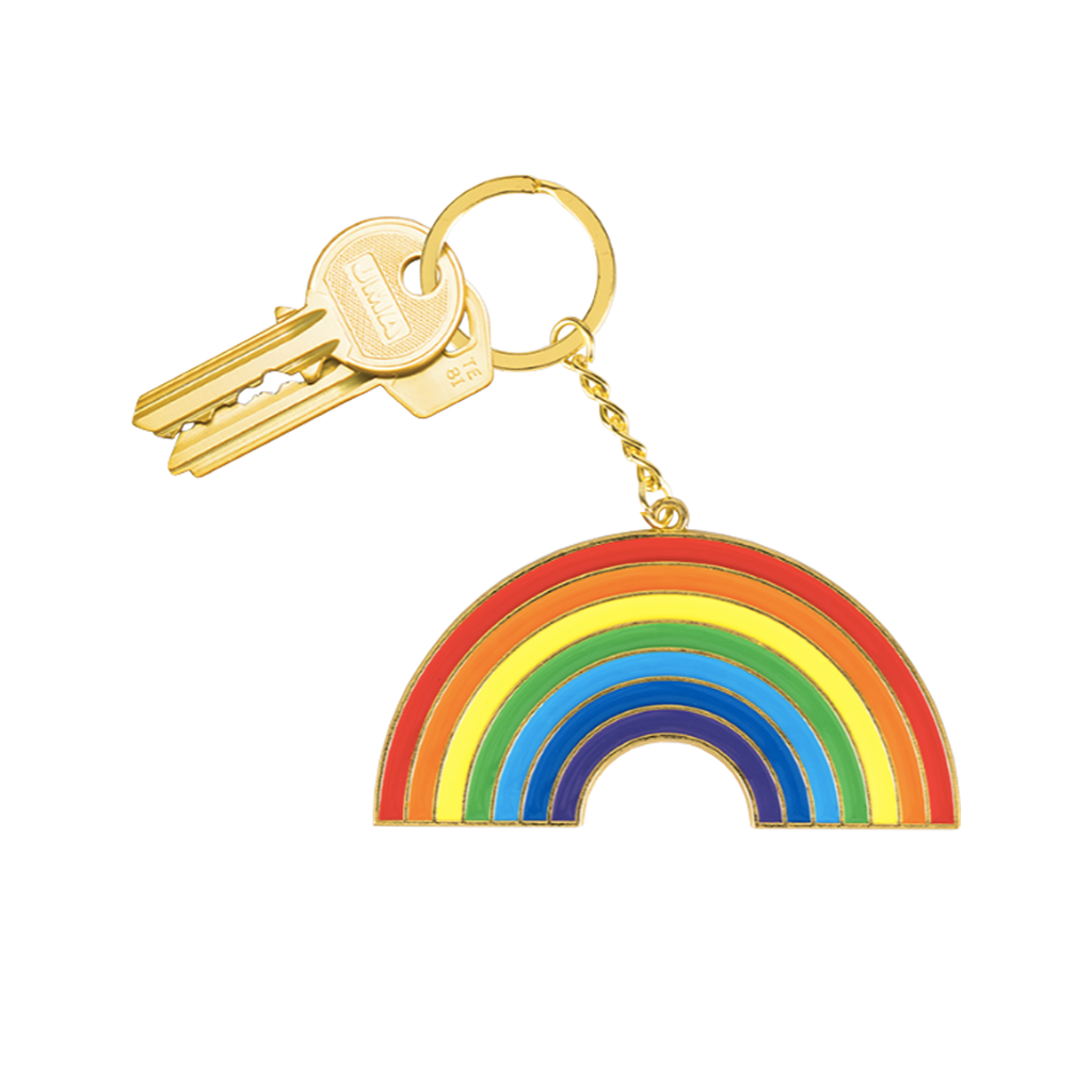 Oversized Rainbow Keyring