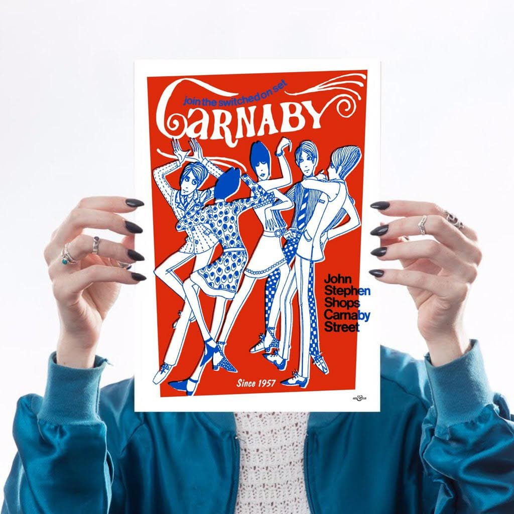 A4 Swinging Carnaby (Cobolt & Red)