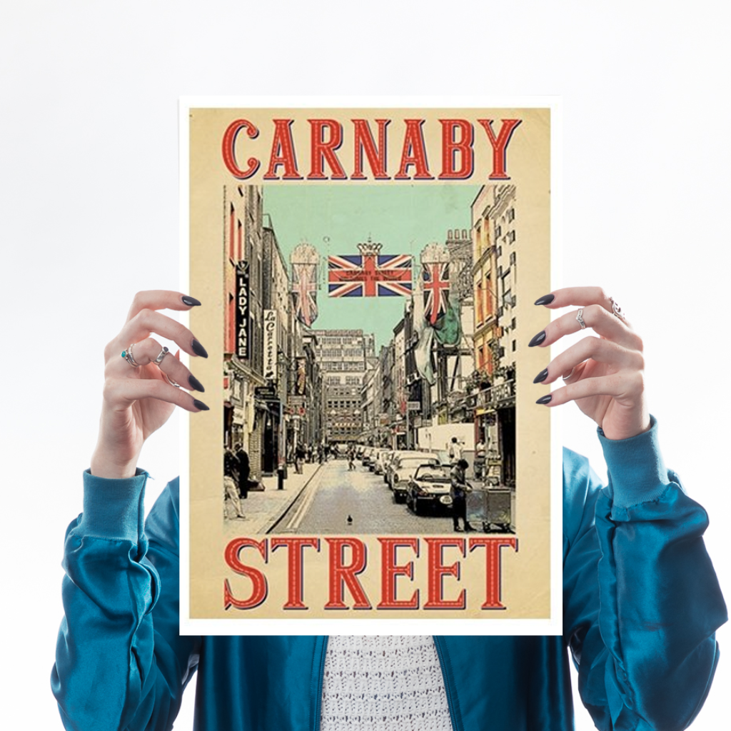 Retro Carnaby Art Landmark Indieprints for We Built This City 1