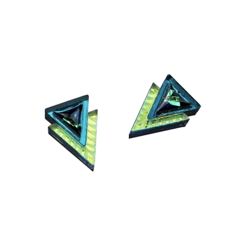 Etched Chevron Studs