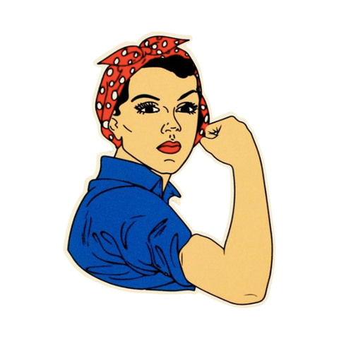 Rosie Riveter Die Cut Vinyl Sticker
