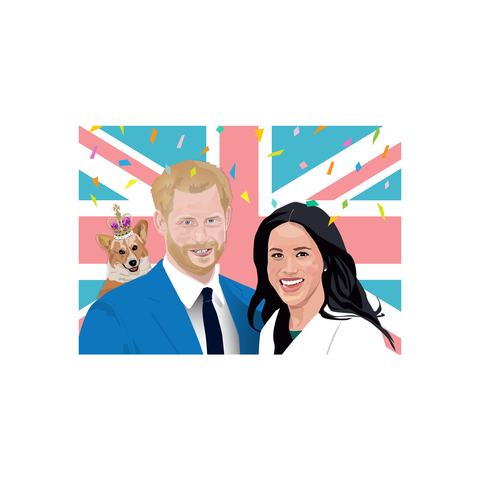 Harry & Meghan (postcard) - Sabi Koz