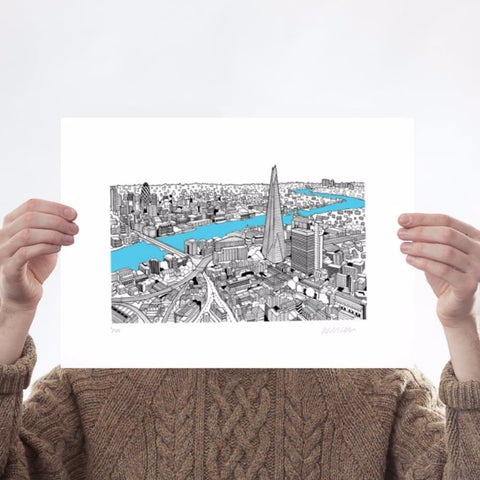 The Shard A3 (Turquoise)
