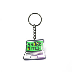 Shoreditch Laptop Enamel Keyring