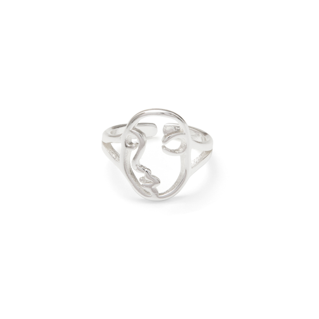 Silver Face Ring