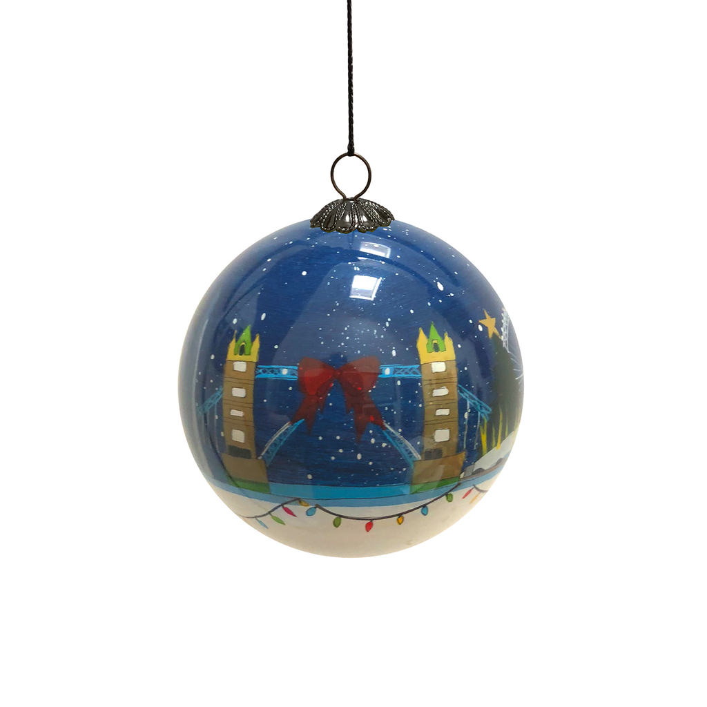 London Starry Sky Hand Painted Bauble