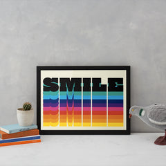 Rainbow Smile Art Typography North Six Graphic Design for We Built This City 3