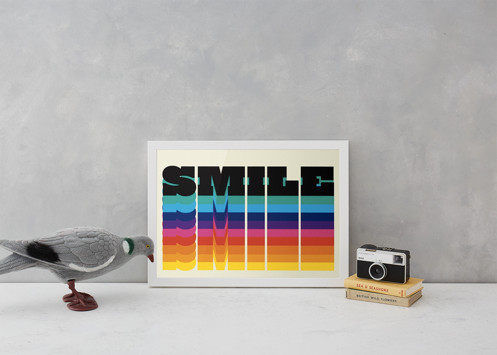 Rainbow Smile Art Typography North Six Graphic Design for We Built This City 4
