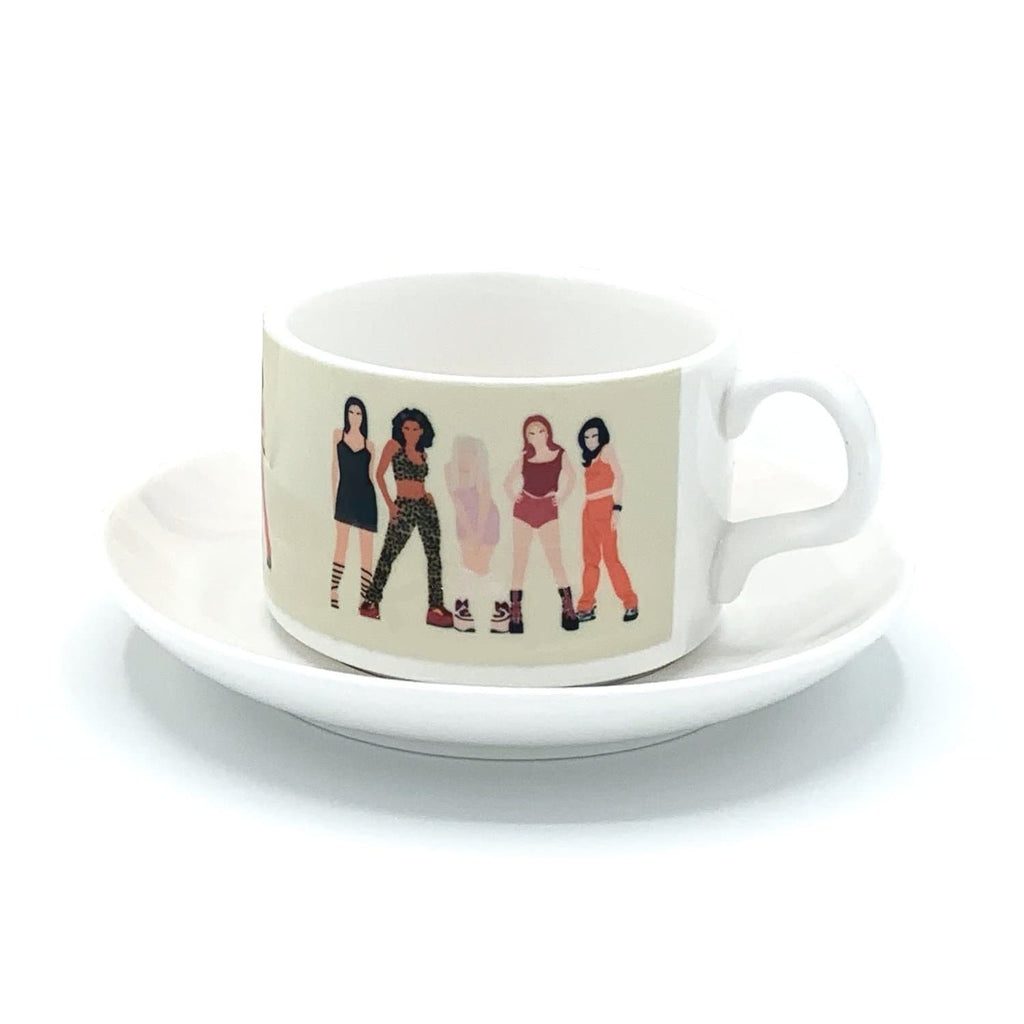 spice girls girl power mug cup saucer 90s