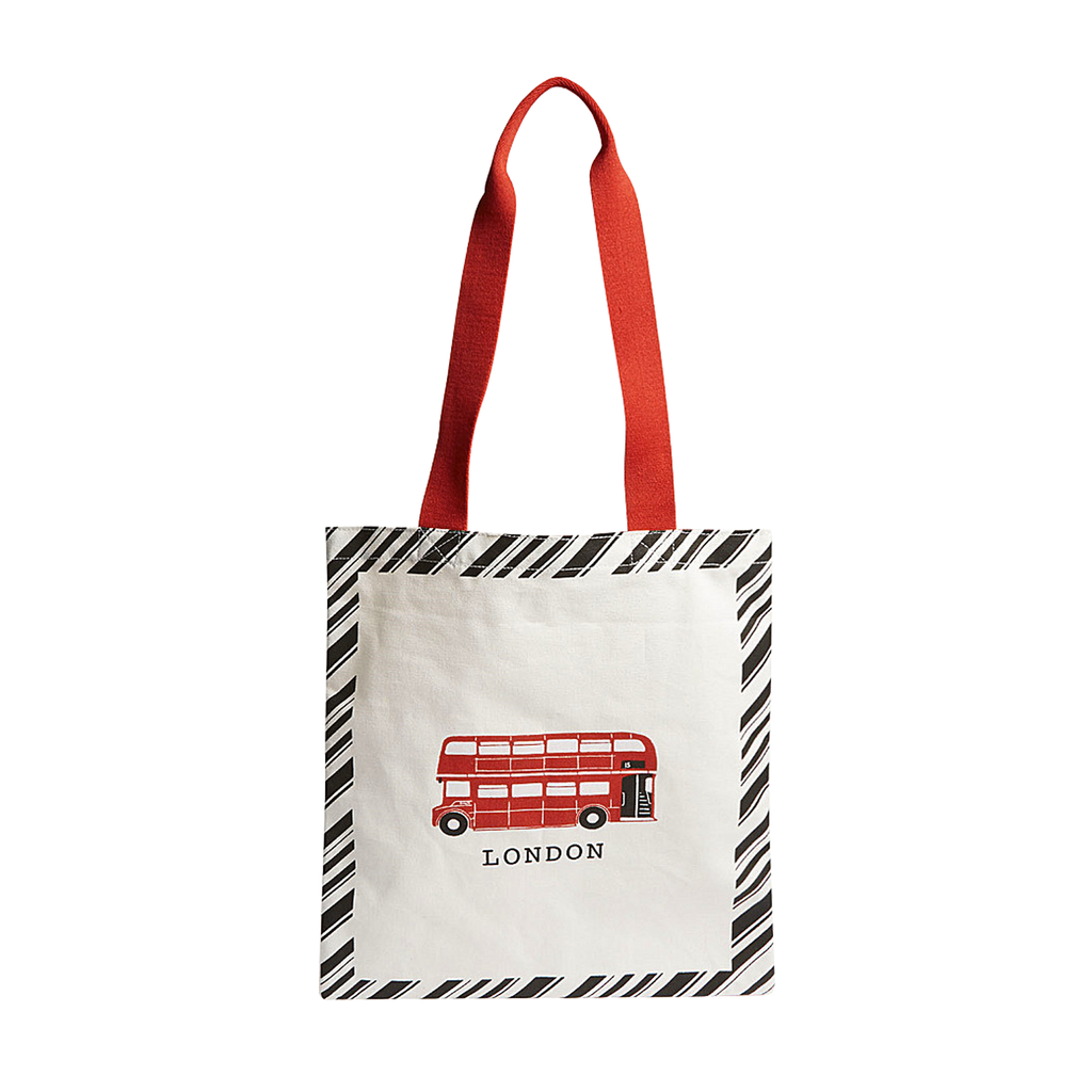 London Bus Stripe Tote Bag