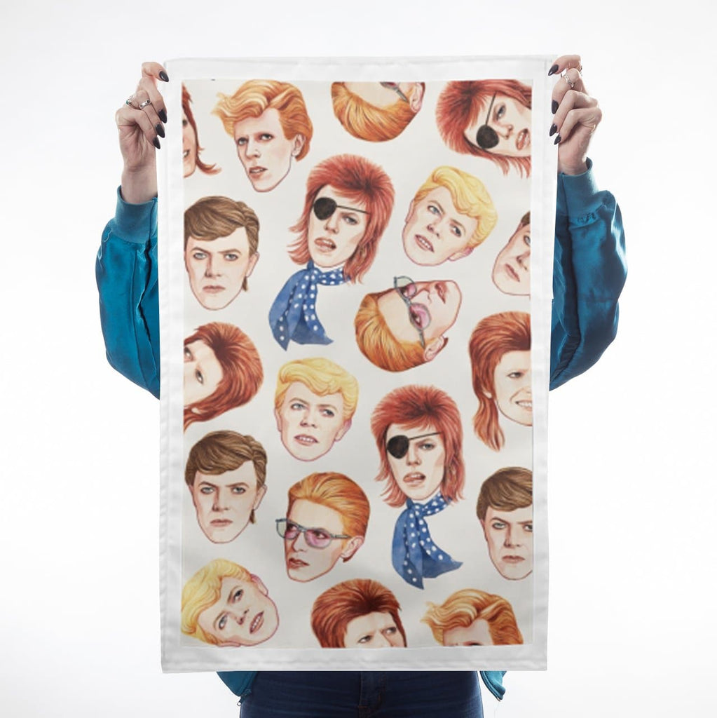Fabulous Bowie Tea Towel Kitchen Textiles - Teatowels Helen Green for We Built This City 1