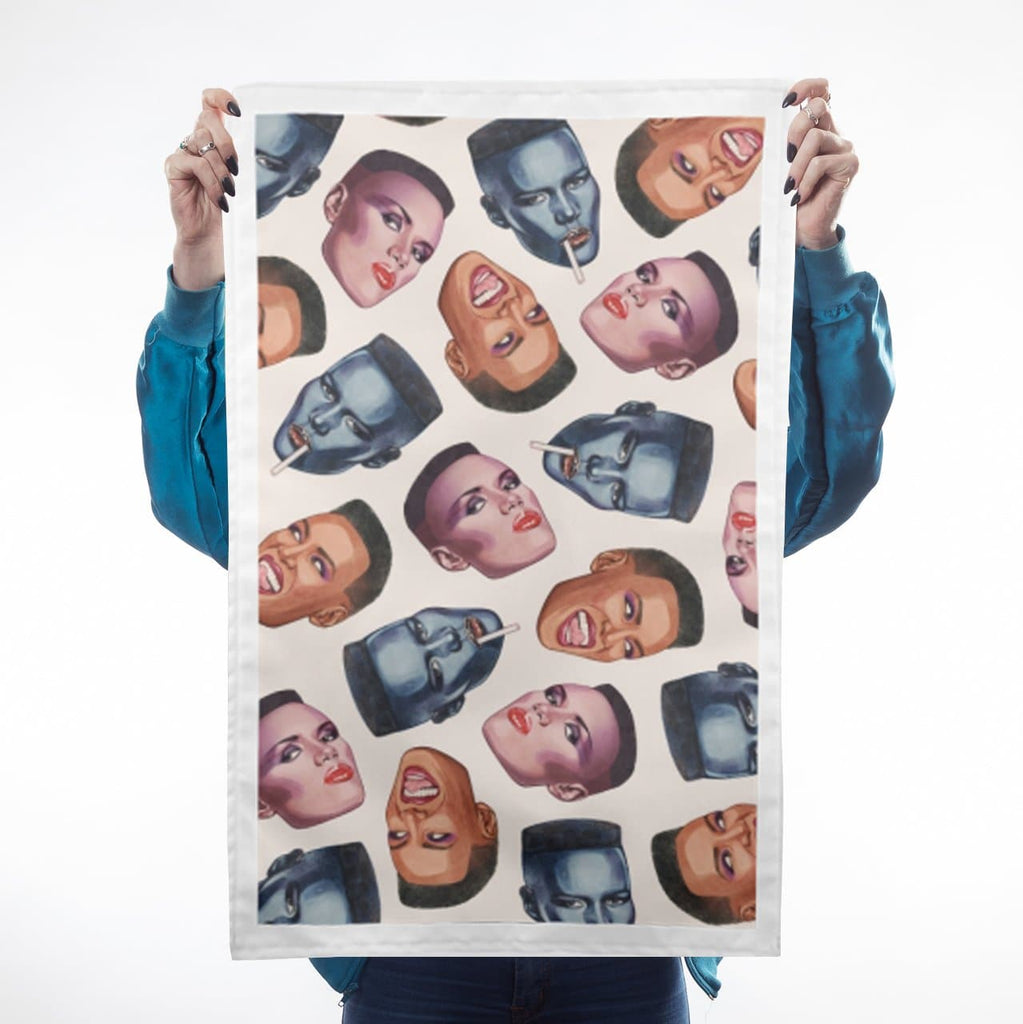 Grace Faces Tea Towel Kitchen Textiles - Teatowels Helen Green for We Built This City 1