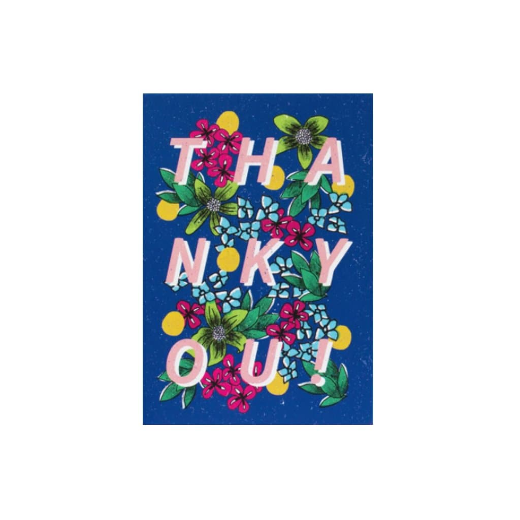 Thank You - Navy Flowers (card) - Natalie Lea Owen