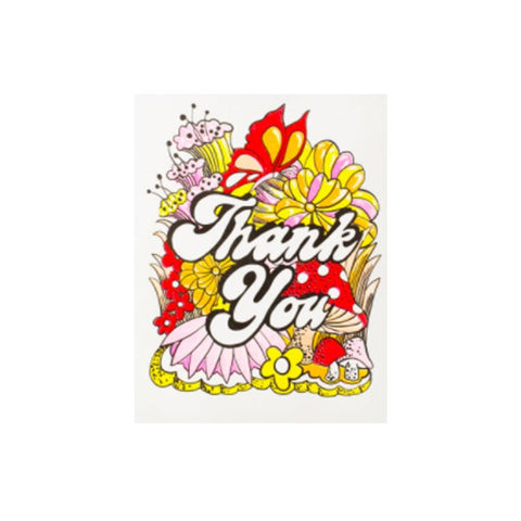 Greetings cards tagged x t card thank you we built this city thank you floral and toadstool card m4hsunfo
