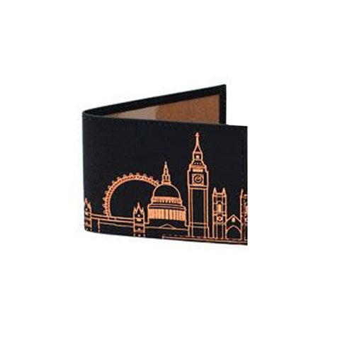 London Skyline Leather Travelcard Holder