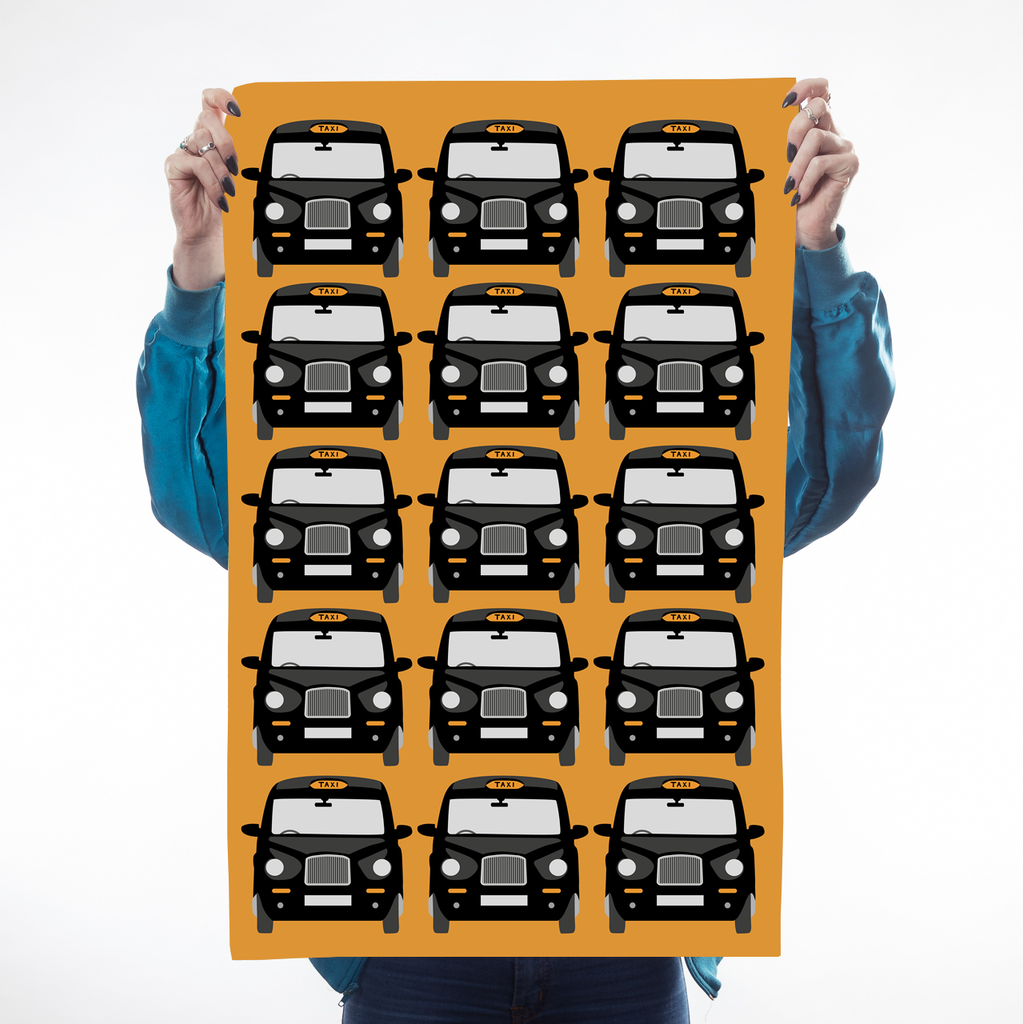 Orange London Taxi Teatowel