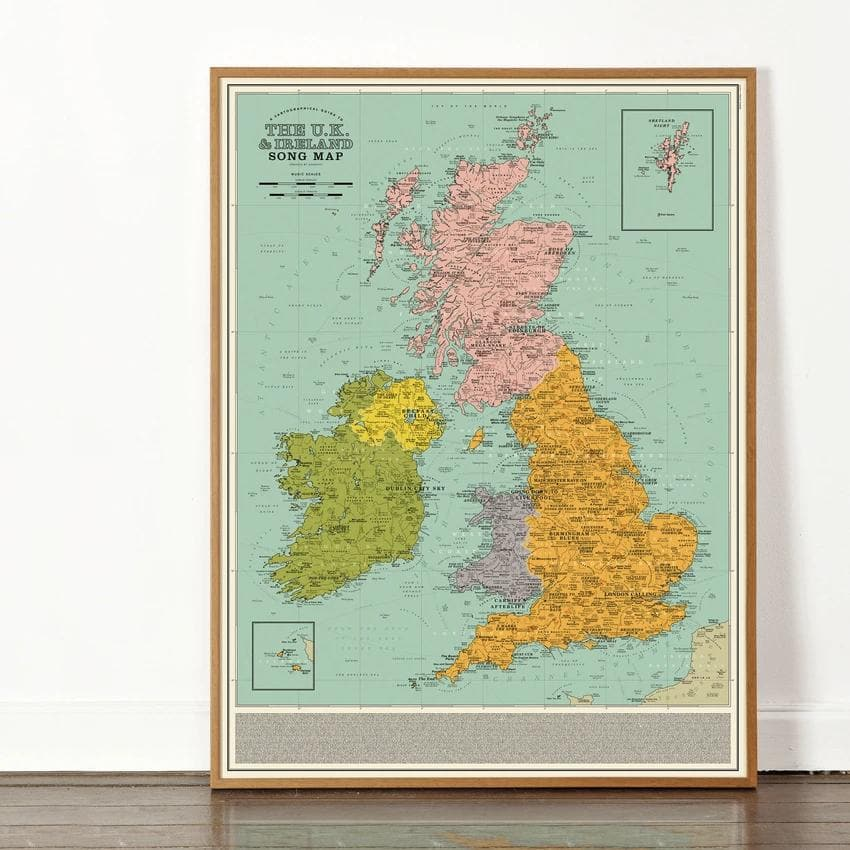 UK and Ireland Song Map