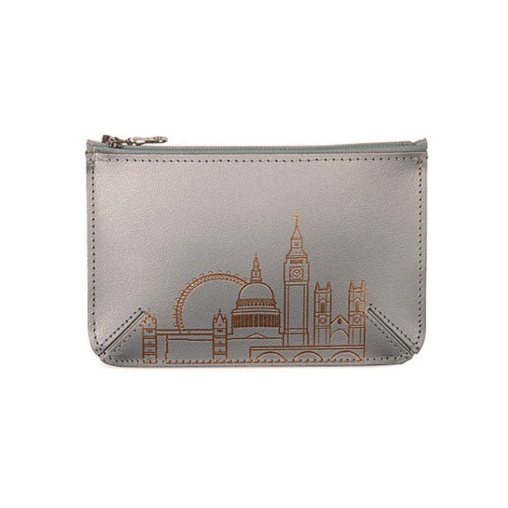 London Skyline Leather Flat Purse