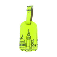 Leather Skyline Luggage Tag Yellow Travel Accessories - Luggage Tags UnderCover for We Built This City 1