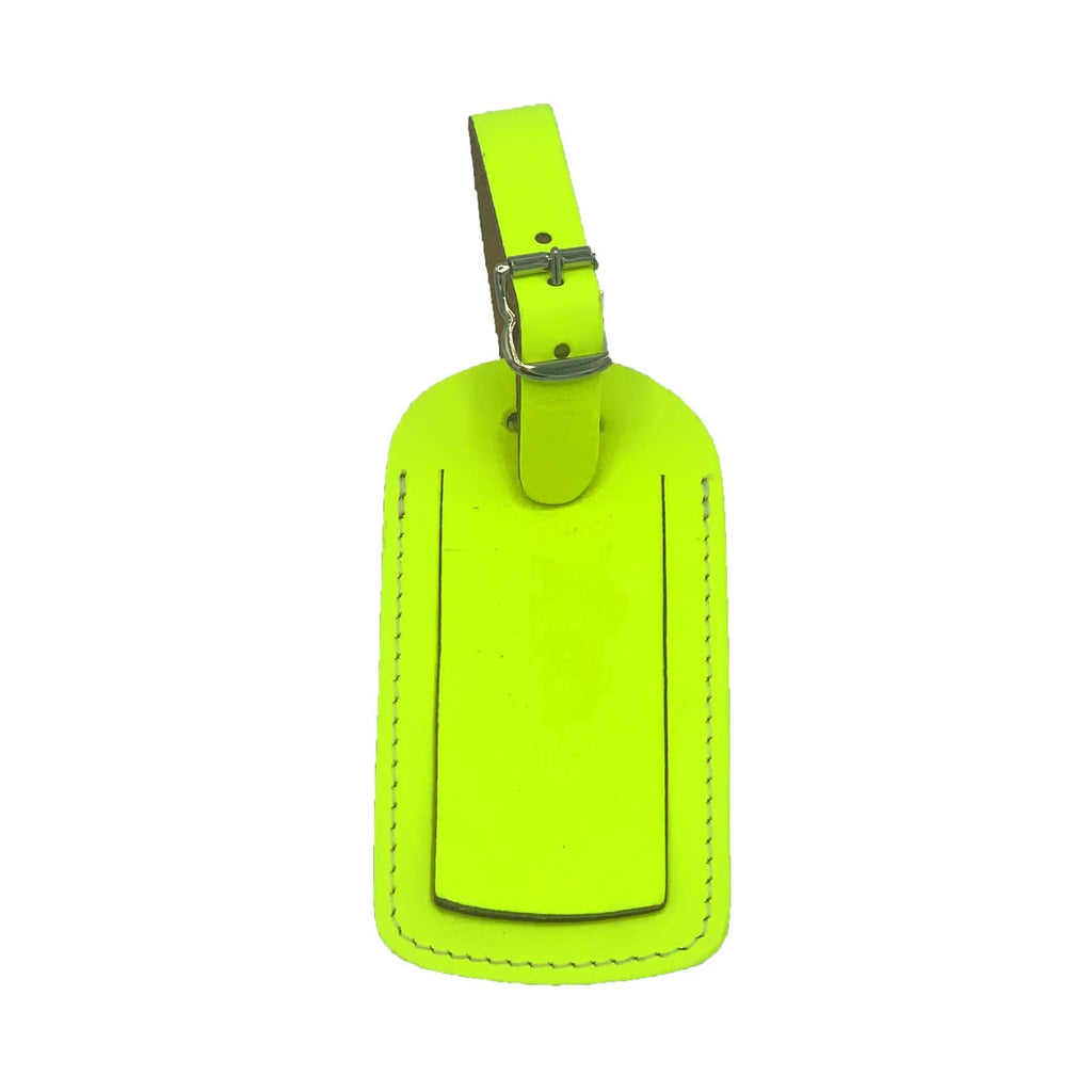 Leather Skyline Luggage Tag Yellow Travel Accessories - Luggage Tags UnderCover for We Built This City 2