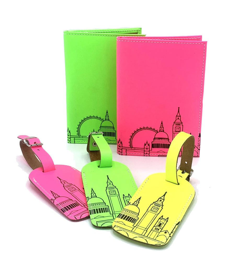 Leather Skyline Passport Cover Pink Travel Accessories - Passport Holders UnderCover for We Built This City 3