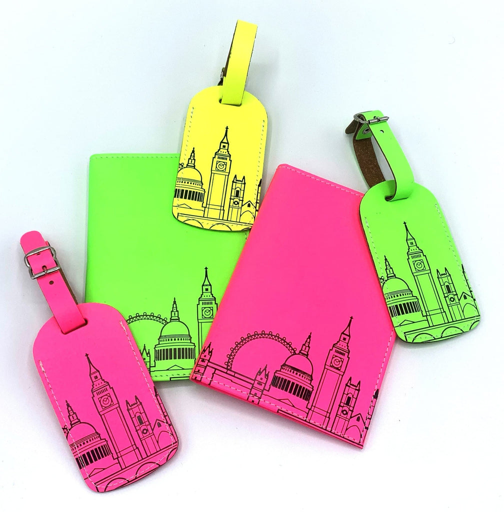 Leather Skyline Luggage Tag Yellow Travel Accessories - Luggage Tags UnderCover for We Built This City 5