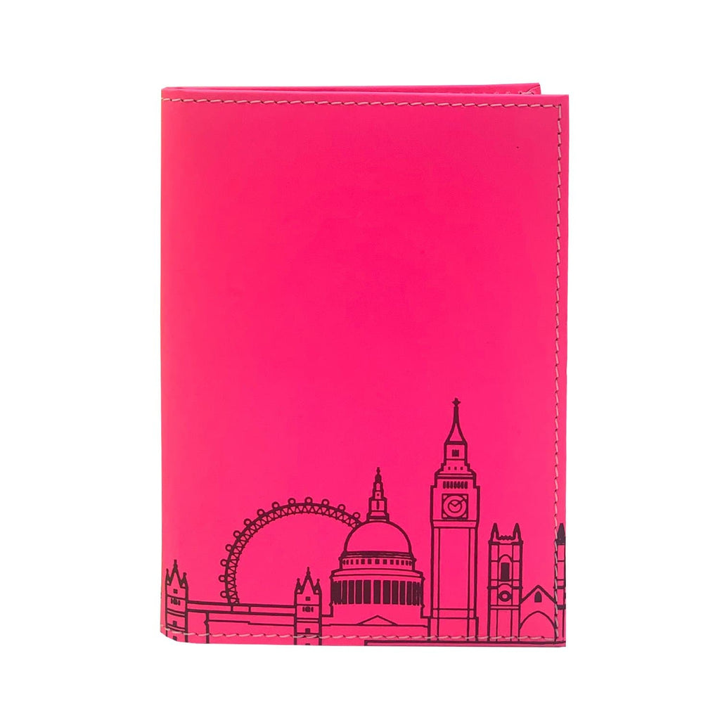 Leather Skyline Passport Cover Pink Travel Accessories - Passport Holders UnderCover for We Built This City 1