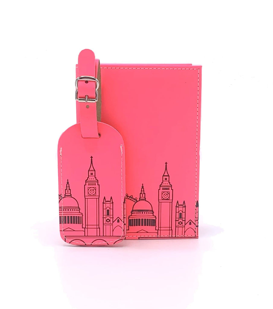 Leather Skyline Passport Cover Pink Travel Accessories - Passport Holders UnderCover for We Built This City 2