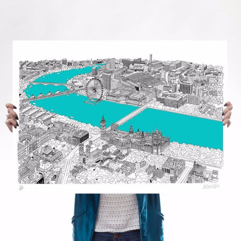 Westminster (Cyan Blue)