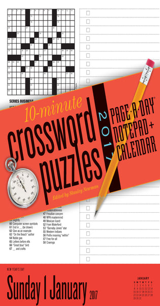 10-Minute Crossword Puzzles Notepad + Calendar 2017