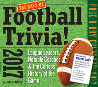 365 Days of Football Trivia! Page-A-Day Calendar 2017