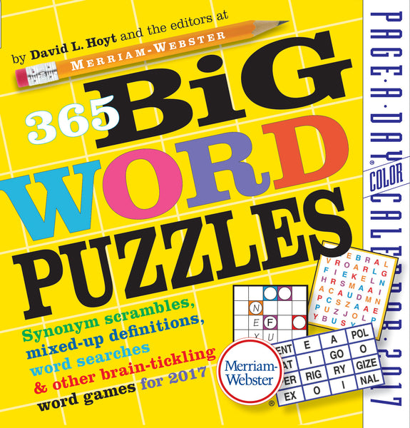365 Big Word Puzzles Page-A-Day Calendar 2017