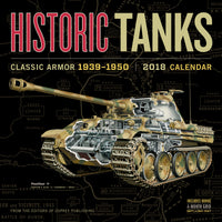 Historic Tanks Wall Calendar 2018