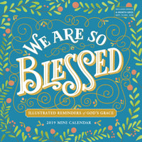 We Are So Blessed Mini Wall Calendar 2019