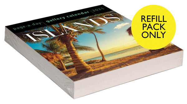 Islands Page-A-Day Gallery Calendar 2021 Refill Pack