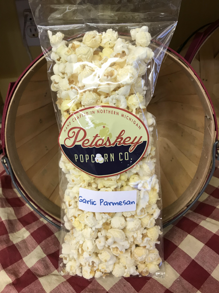 Garlic Parmesan Seasoned Small Batch Popcorn