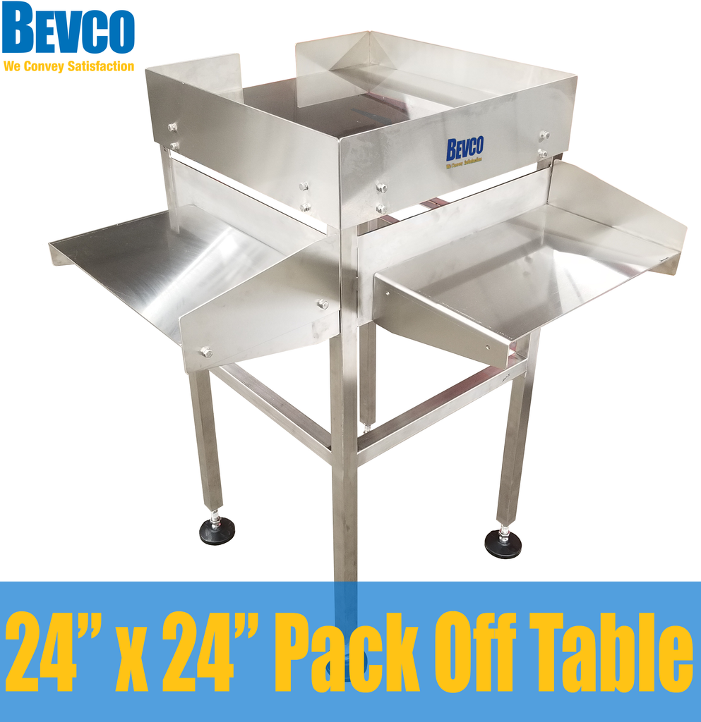 Hand Pack Off Table for Craft Brewery:  Bevco's Custom, Cost-Effective and Ergonomic Solution!