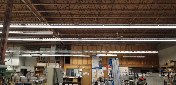 Bevco Old Lighting System in the Shop
