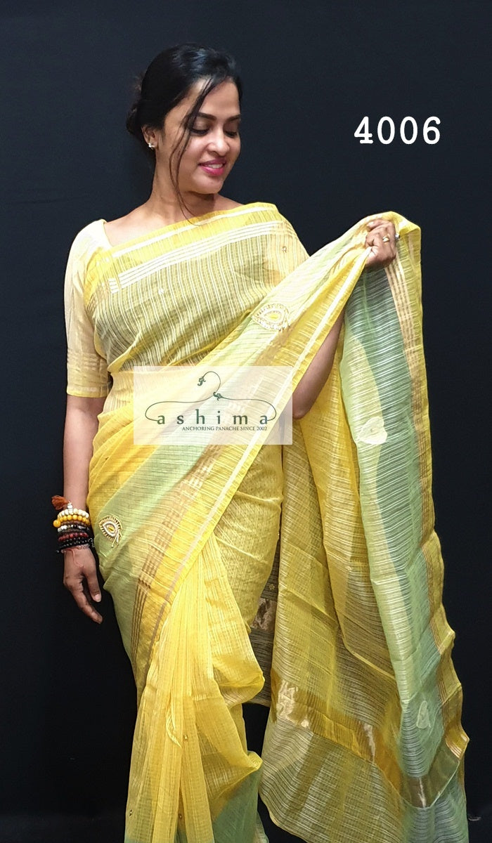 Embroidered Semi Silk Saree 4006