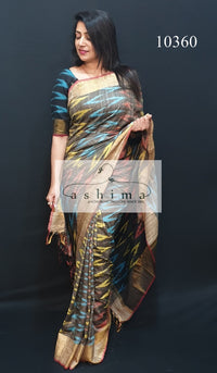 Ikat Silk Saree 10360