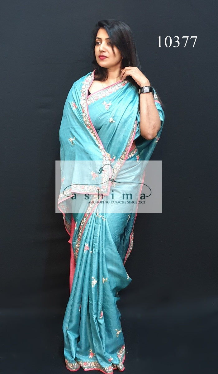 10377 Tussar Silk Saree