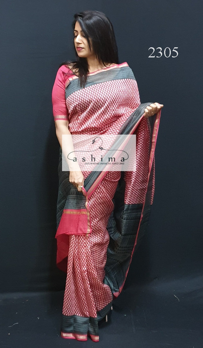 Printed Chanderi Saree 2305