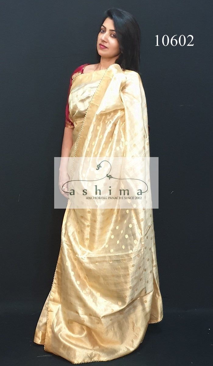 10602 Tissue Banarasi Saree