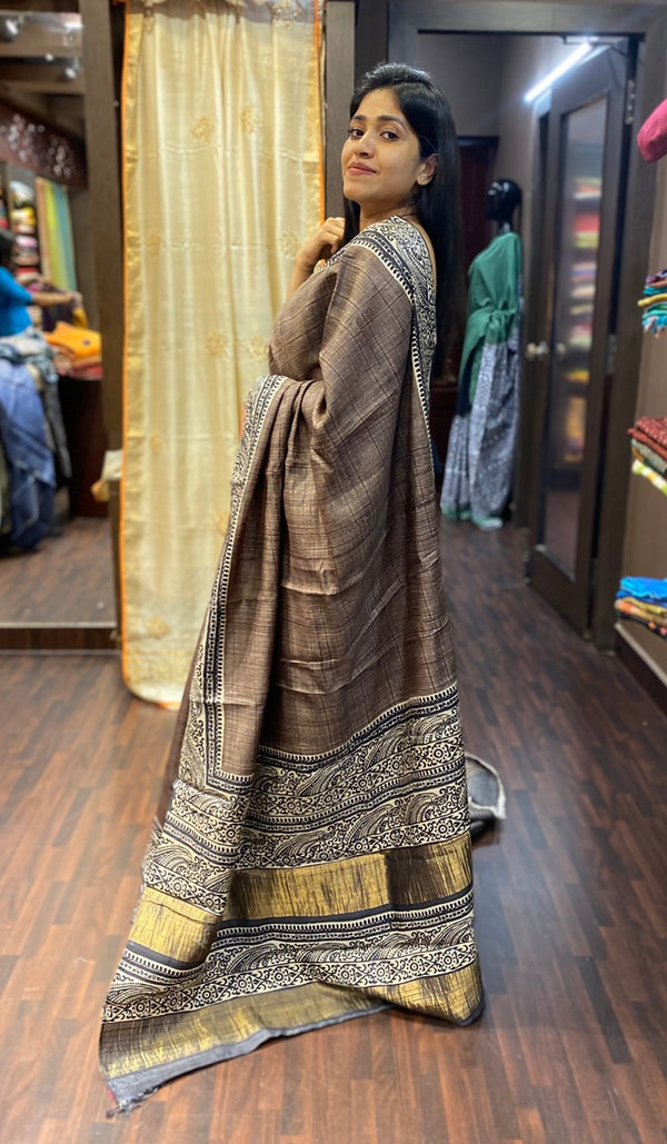 Tussar silk saree 13773