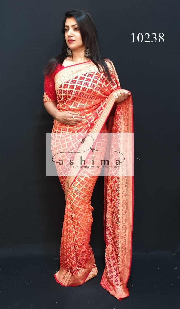 10238 Banarasi Georgette Saree