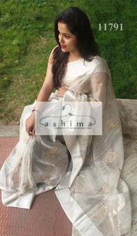 Tissue organza saree 11791