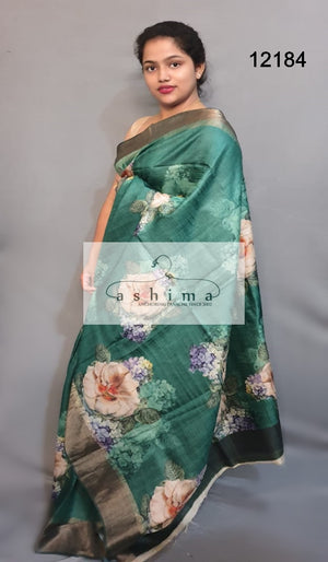Tussar silk saree 12184