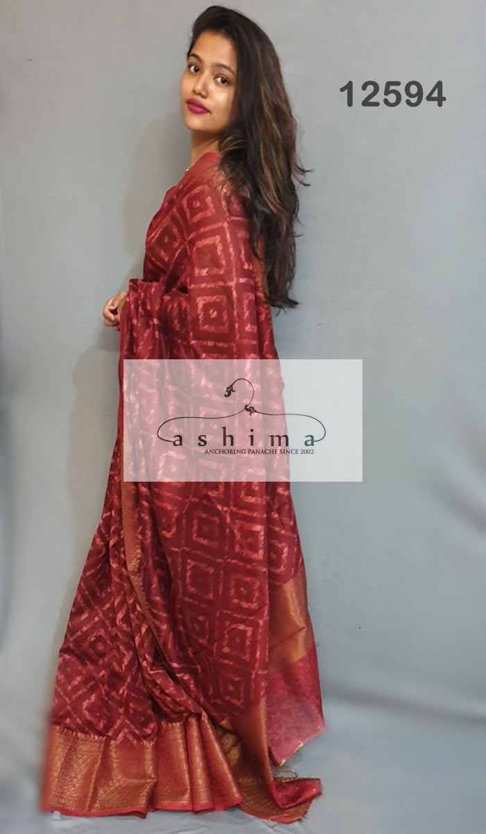 Chanderi saree 12594